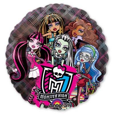 "Шар фигура фольга ""КРИСТАЛ Monster High"""
