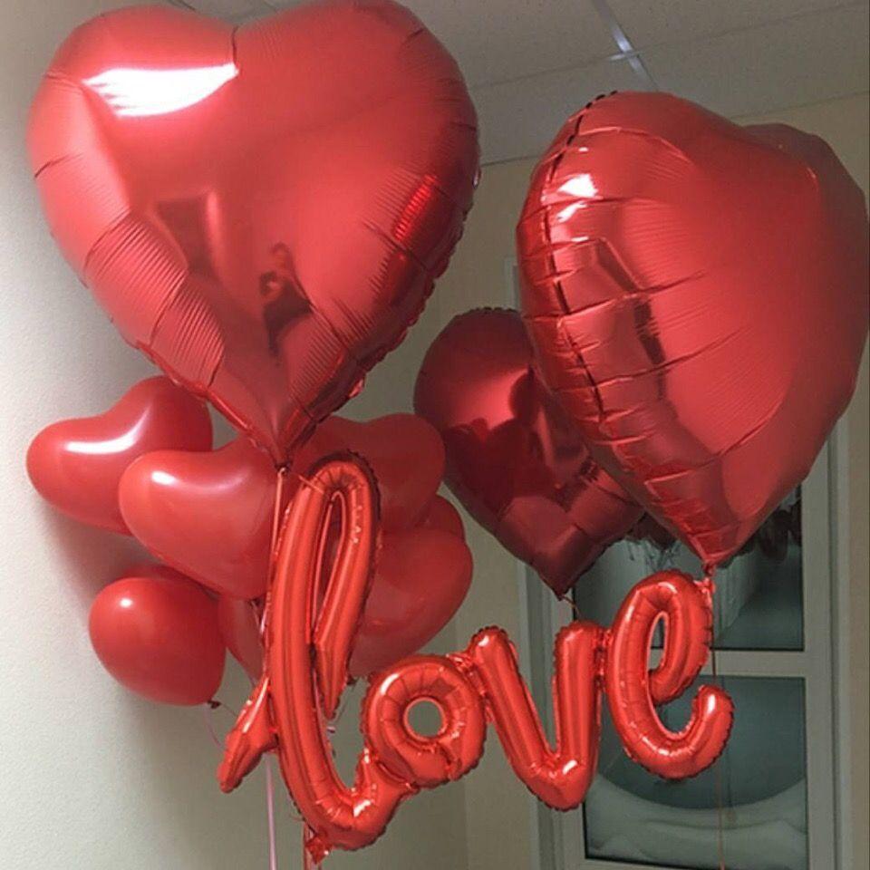 Как украсить комнату воздушными шарами на День святого Валентина (14 февраля)?