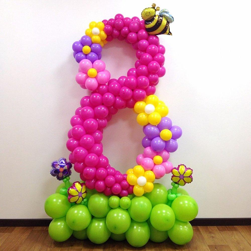 5 лучших идей для подарка из воздушных шаров на 8 марта