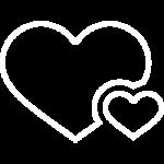 иконка белая 14 февраля