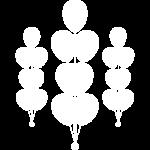 иконка белая композиции из шаров