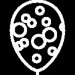 иконка белая шары конфетти