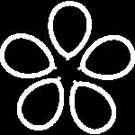 иконка белая цветы из шаров