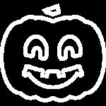 иконка белая хелоувин