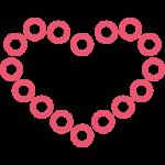 иконка сердца на каркасе