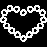 иконка белая сердца на каркасе