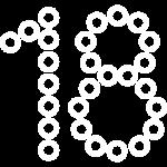 иконка белая плетёные цифры и буквы
