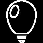 иконка белая светящиеся шары