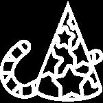иконка белая товары для праздника